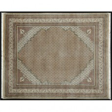 BIDJAR MIR CORNER HAND KNOTTED LUXURY CARPET LIGHT BEIGE CREAM