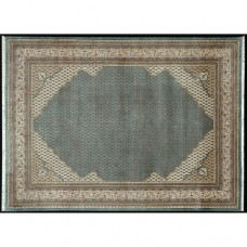 BIDJAR MIR CORNER HAND KNOTTED LUXURY CARPET LIGHT BLUE CREAM