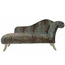 Chaise Lounge Right Hand in Leopard Print Fabric