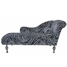 RIGH HAND ZEBRA PRINT CHAISE LOUNGE