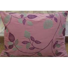 Zeba Raspberry Pink Green Floral Cushion