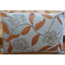 Zeba Blue Rust Applique Cushion