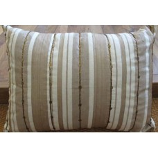 Zeba Natural Silk Striped Cushion