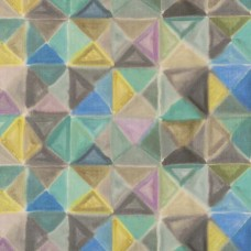 Bougival geometric pattern in linen fabric