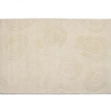 CONTEMPORARY CIRCLE IVORY TEXTURED RUG