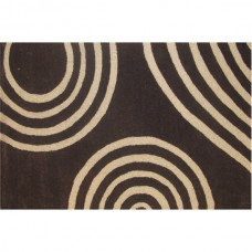 CYCLONE DARK BROWN WOOL RUG
