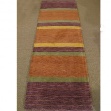 STRIPED TERRACOTTA HALLWAY RUNNER