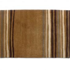 ZEBA Sandy Striped Natural Wool Rug