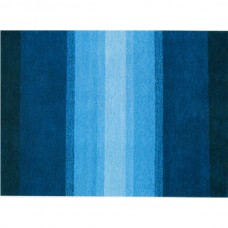 SEA BLUE GRADIENT WOOL RUG BY ZEBA