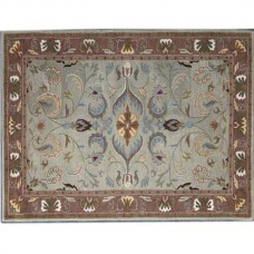 TEAL BROWN TRADITIONAL RUG